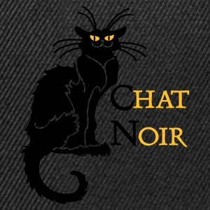 Oliva chat noir 'n (text, 2c) T-shirt - Snapback Cap