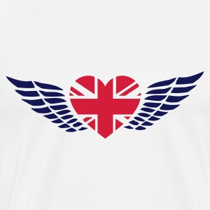 White uk_heart Tops - Men's Premium T-Shirt
