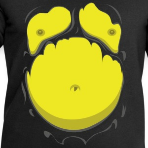Comic Fat Belly Yellow, beer gut, beer belly, ches - Men's Sweatshirt by Stanley & Stella