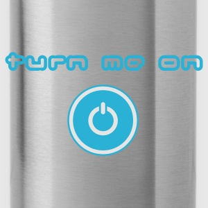 Sky blue turn me on Tops - Water Bottle