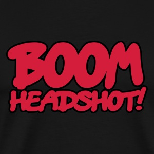 Black BOOM headshot 2c UK Men's T-Shirts - Men's Premium T-Shirt