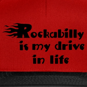 Rouge Retro rockabilly is my drive in life Débardeurs - Casquette snapback