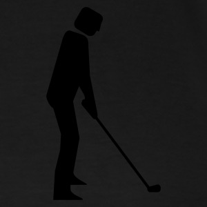 Black Golf-Spieler / Golfer (1c) Tops - Men's Premium T-Shirt
