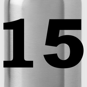 Red number - 15 - fifteen Tops - Water Bottle