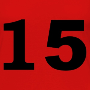 Red number - 15 - fifteen Tops - Women's Premium Longsleeve Shirt