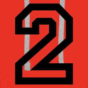 Red number - 2 - two Tops - Men's Premium Hoodie