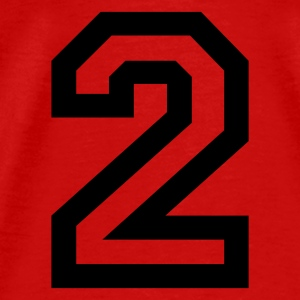 Red number - 2 - two Tops - Men's Premium T-Shirt