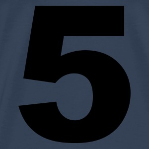 Sky blue number - 5 - five Tops - Men's Premium T-Shirt