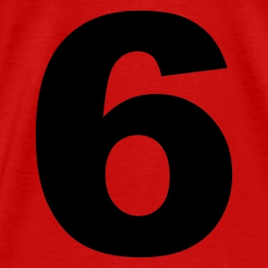 Red number - 6 - six Tops - Men's Premium T-Shirt