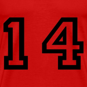 Red number - 14 - fourteen Tops - Men's Premium T-Shirt