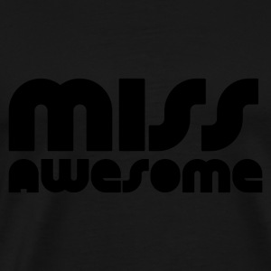 Svart miss awesome Topper - Premium T-skjorte for menn
