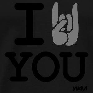 Svart i rock you Toppar - Premium-T-shirt herr