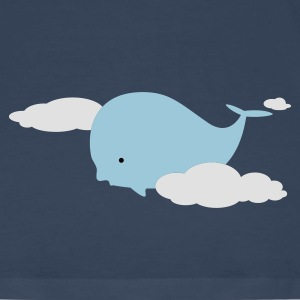 Petrol Whale in the Clouds Tops - Men's Premium T-Shirt