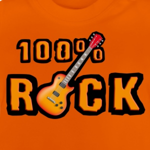 Orange 100_rock_guitars_red Kinder T-Shirts - Baby T-Shirt