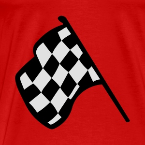 Red Chequered Racing Flag Tops - Men's Premium T-Shirt