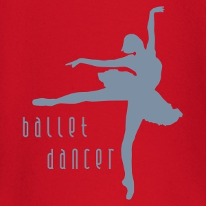 Orange ballet_dancer_b_1c Kinder T-Shirts - Baby Langarmshirt