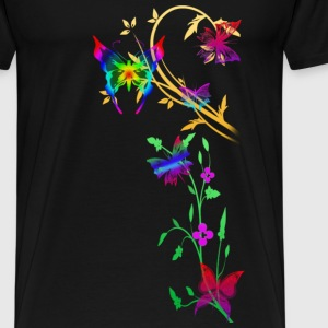 Black butterfly Tops - Men's Premium T-Shirt