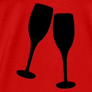 Red Champagne Toast Tops - Men's Premium T-Shirt
