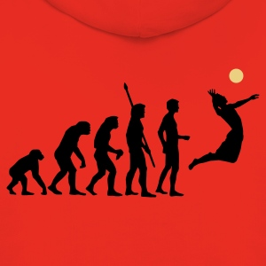 Golden orange evolution_volleyball_2c Men's T-Shirts - Kids' Premium Hoodie