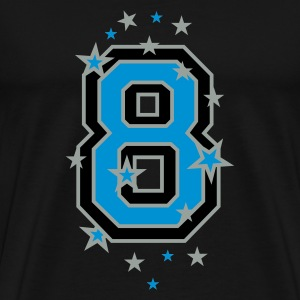 Black The number eight, and stars Men's T-Shirts - Men's Premium T-Shirt