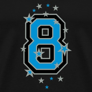 Black The number eight, and stars Tops - Men's Premium T-Shirt