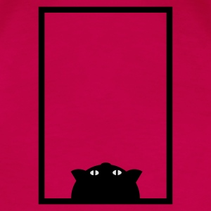 Pink Katze im Fenster / cat in window (b, 2c) Tops - Frauen Premium T-Shirt
