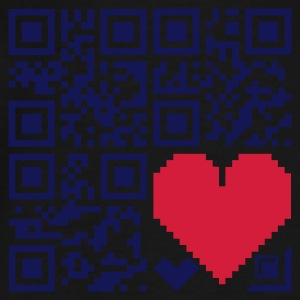 Black Herzen / hearts (QR-code, 2c) Tops - Men's Premium T-Shirt