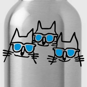 Orange cool cats T-Shirts - Water Bottle