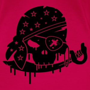 Pink Pirate skull with sword and eye patch Tops - Women's Premium T-Shirt