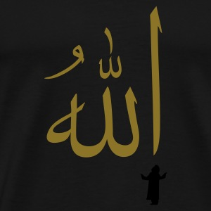 Svart bønn til Allah / prayer to allah (2c) Topper - Premium T-skjorte for menn
