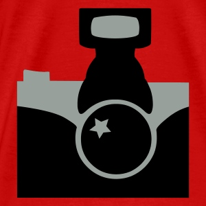 Red Camera Tops - Men's Premium T-Shirt