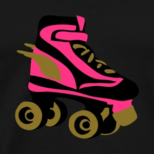 Black roller skate wings by patjila Tops - Men's Premium T-Shirt