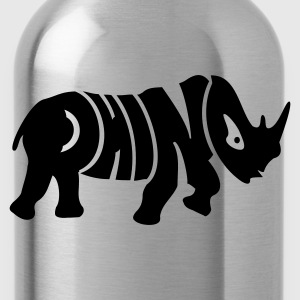 Orange Nashorn / Rhino (1c) Kids' Shirts - Water Bottle
