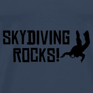 Sky blue skydiving rocks 2 Tops - Männer Premium T-Shirt