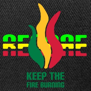 Oliv keep the fire burning 70x155mm T-Shirts - Snapback Cap