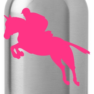 Show jumping, jumping horse, horse Tops - Water Bottle