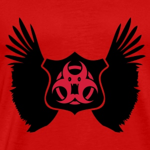 Rojo winged Biohazard Monster Emblem (2c) Tops - Camiseta premium hombre