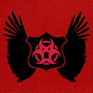 Rød winged Biohazard Monster Emblem (2c) Topper - Snapback-caps