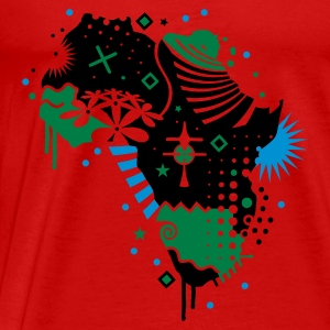 Red Africa cradle of humanity  Tops - Men's Premium T-Shirt