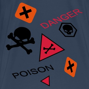 Aqua Caution extremely toxic or poisoning danger Tops - Men's Premium T-Shirt