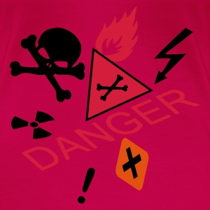 Pink caution flammable and deadly danger Tops - Women's Premium T-Shirt