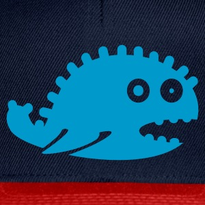 Turkis monster dragon whale (1c) Topper - Snapback-caps