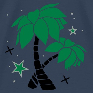 Aqua Two palm trees on the beach Tops - Men's Premium T-Shirt