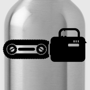 Black Kettensäge / chain saw (1c) Tops - Water Bottle