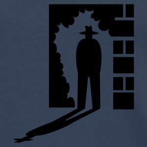 Petrol man in de schaduw / shadow man (1c) Tops - Mannen Premium T-shirt