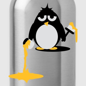 Petrol Penguin  painting - Do it yourself Tops - Water Bottle