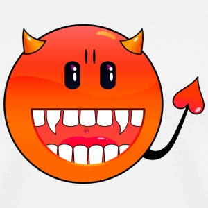 Vit djävul Emoticon / devil smiley (A1, DDP) T-shirts - Premium-T-shirt herr