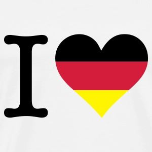 Blanco I Love Germany Original (3c) Camisetas - Camiseta premium hombre