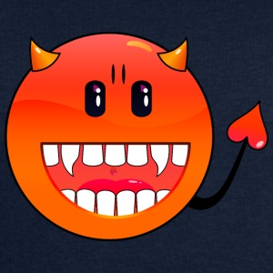 Petrol duivel Emoticon / devil smiley (A1, DDP) Tops - Mannen sweatshirt van Stanley & Stella