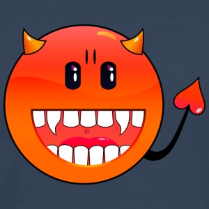 Petrol Teufel Emoticon / devil smiley (A1, DDP) Tops - Männer Premium T-Shirt
